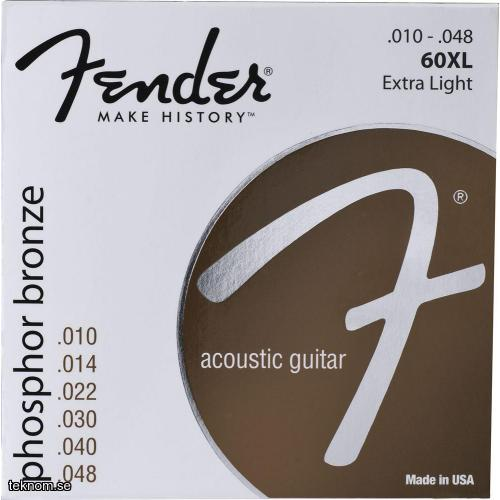 Fender 60XL Phosphor Bronze .10-.48